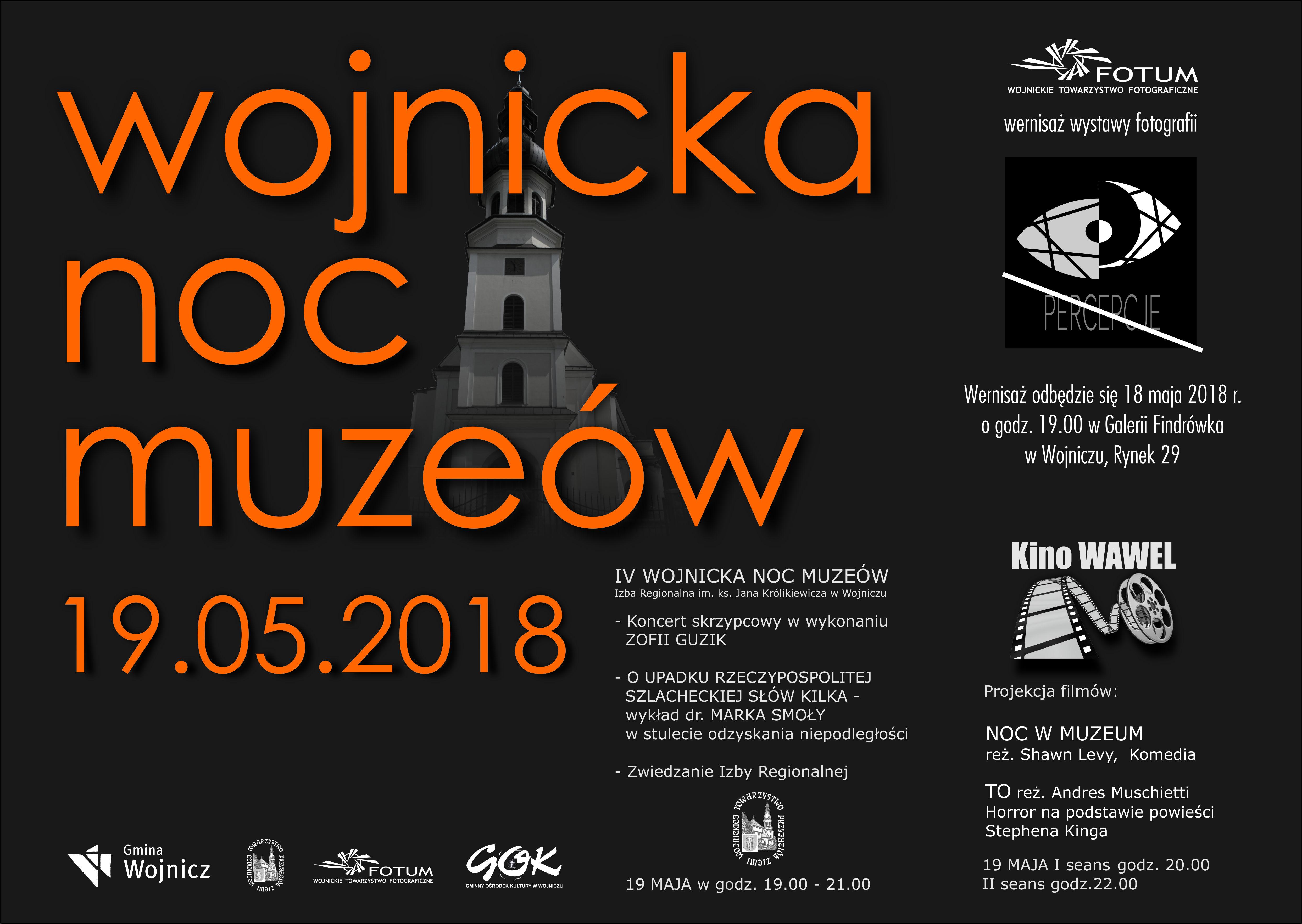 """WOJNICKA NOC MUZEÓW @ Galeria """"Findrówka"""", Izba Regionalna, Kino """"Wawel"""""""