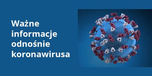 baner przedstawiający koronawirusa
