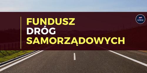 baner graficzny Funduszu Dróg Samorządowych