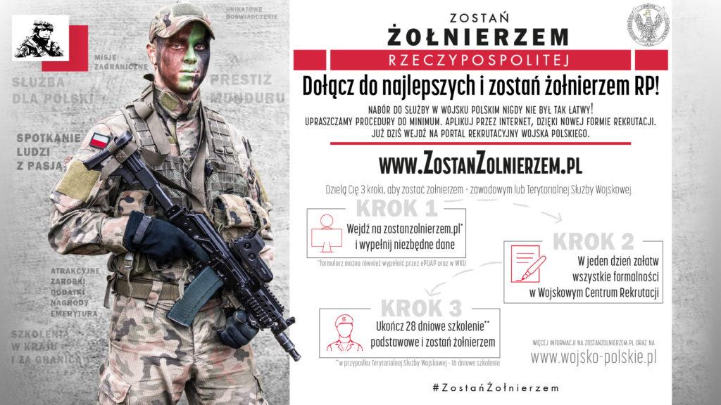 Plakat zostań żołnierzem Rzeczypospolitej