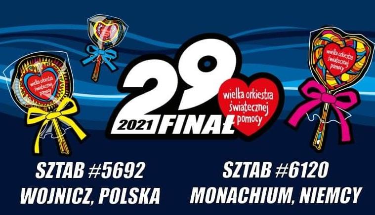 Plakat sztabu 29 Finału WOŚP w Wojniczu