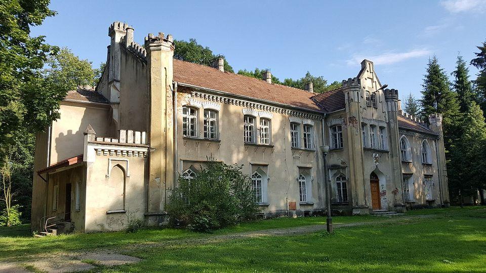 Zdjęcie pałacu Dąmbskich w Wojniczu.