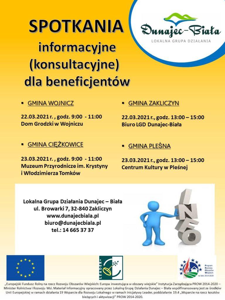 Spotkanie informacyjne LGD Dunajec - Biała - plakat.