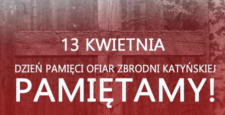 Grafika Dzień Pamięci Ofiar Zbrodni katyńskiej