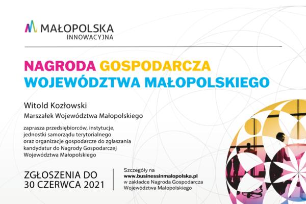 Nagroda Gospodarcza Województwa Małopolskiego 2021