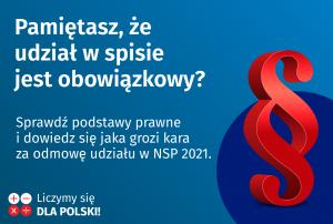 Nie można odmówić rachmistrzowi przekazania danych w ramach NSP 2021