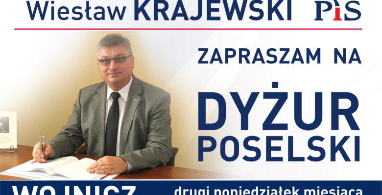 Poselski dyżur Posła na Sejm RP Wiesława Krajewskiego w Wojniczu