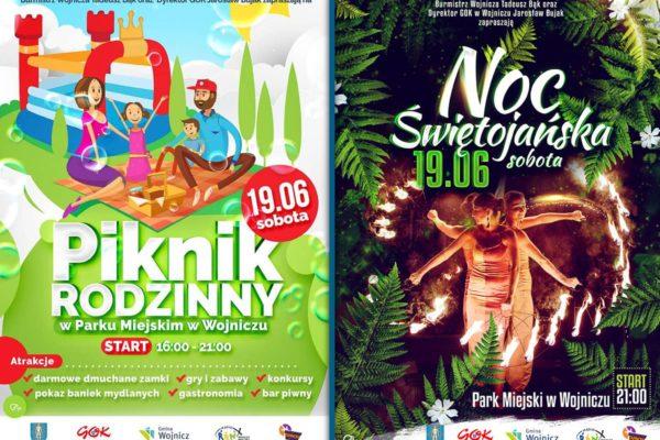 Piknik Rodzinny w Wojniczu oraz 3. Noc Świętojańska w Wojniczu