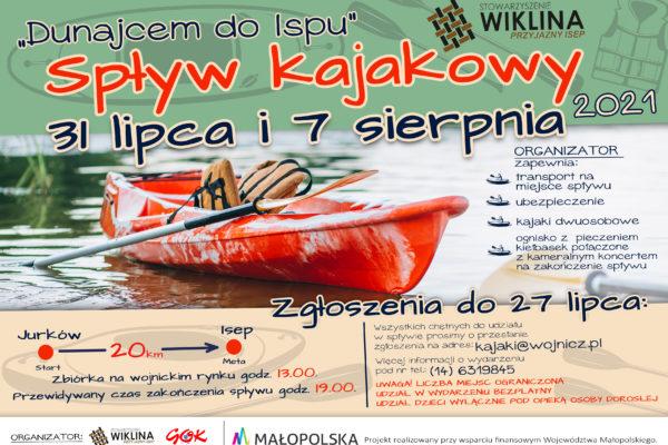 "Plakat projektu ""Dunajcem do Ispu"""